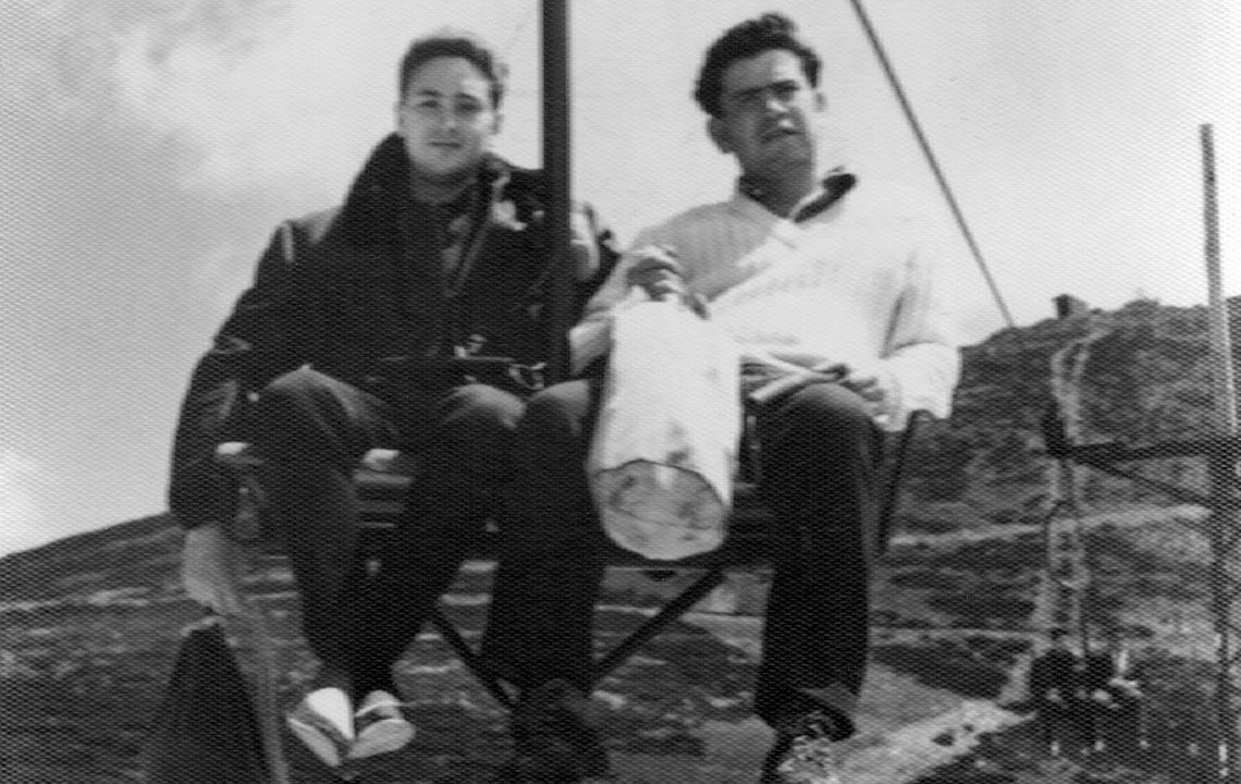 39 - En la sierra con mi amigo Eduardo