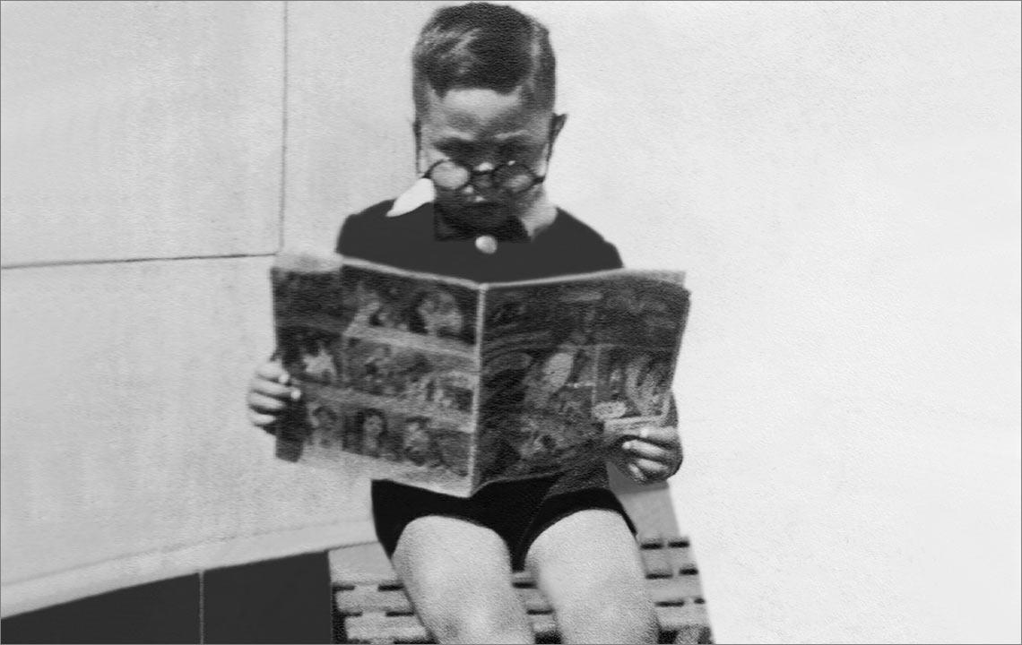 44 - Angel de No, con 5 años leyendo un cuento